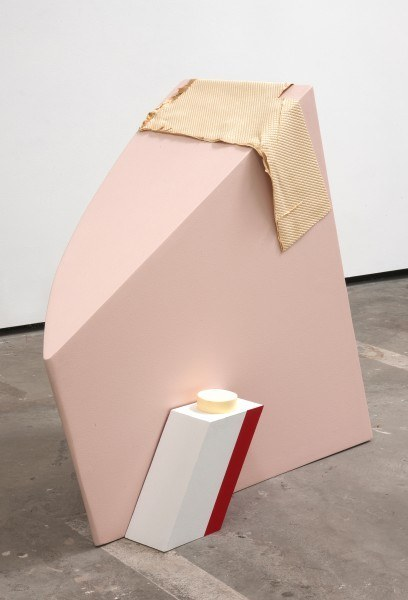 Erik Frydenborg, Primette, 2010. Pigmented polyurethane, latex rubber, MDF, latex paint. 33 x 40 x 15 inches.