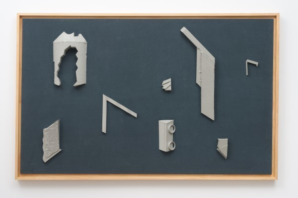 Erik Frydenborg, Codec 12 (Interpreted as Opus 5), 2011. Pigmented polyurethane, pine artist's frame, linen. 46 x 72 x 4 inches.