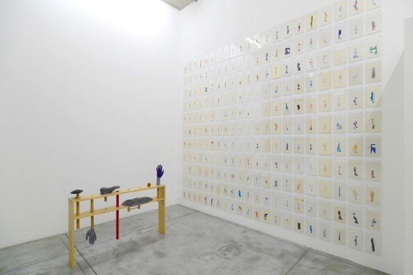 Erik Frydenborg, Full Color Bachelor, 2014. Installation view, Albert Baronian, Brussels.