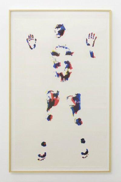 Erik Frydenborg, Traceman (AUT03), 2014 CMYK process inks on cold pressed paper. 80 x 45 inches.