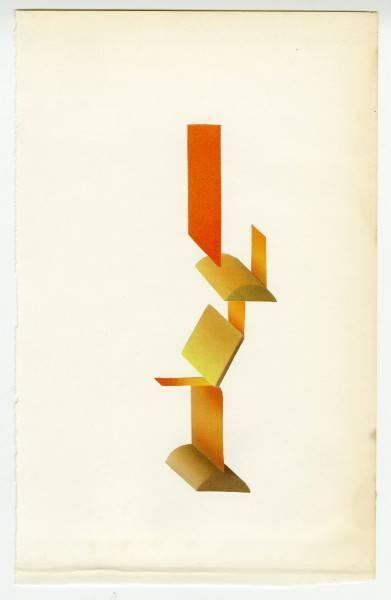 Erik Frydenborg, Full Color Bachelor No. 188, 2014. Collage on endpaper. 7.75 x 5 inches.