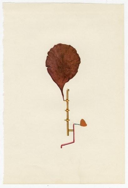 Erik Frydenborg, Full Color Bachelor No. 62, 2014. Collage on endpaper. 8 x 5.5 inches.