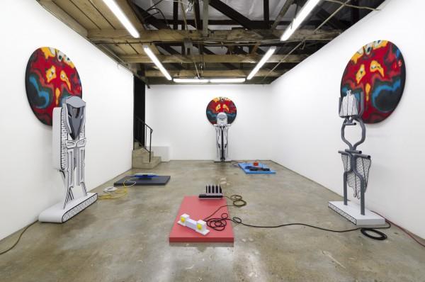 Erik Frydenborg, Gated Snare, 2017. Installation view, The Pit, Glendale.