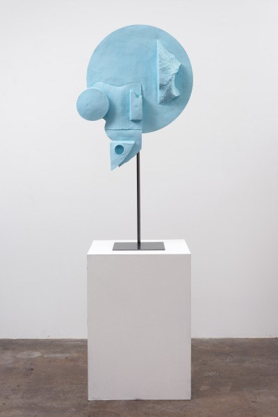 Erik Frydenborg, Waste Venus Plus (Baby), 2013. Pigmented polyurethane, steel display stand, hardware. 53 x 30 x 12 inches.