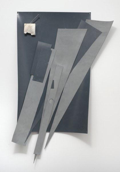 Erik Frydenborg, Feathers, 2010. Sanded rubber, raw rubber, U/V shielded polyurethane, nail. 42 x 28 x 4 inches.
