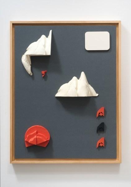 Erik Frydenborg, Codec 3, 2011. Pigmented polyurethane, MDF, latex paint, pine artist's frame, linen. 46 x 36 x 2.5 inches.
