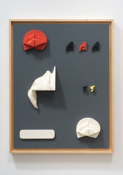 Erik Frydenborg, Codec 4, 2011. Pigmented polyurethane, MDF, latex paint, pine artist's frame, linen. 46 x 36 x 2.5 inches.