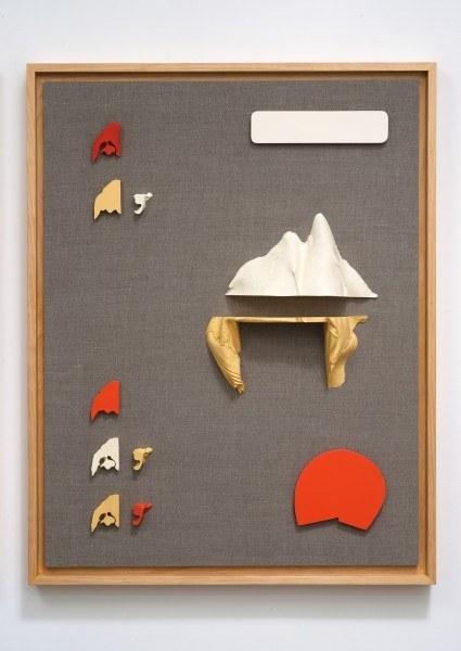 Erik Frydenborg, Codec 7, 2011. Pigmented polyurethane, MDF, latex paint, pine artist's frame, linen. 46 x 36 x 2.5 inches.