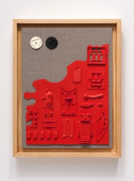 Erik Frydenborg, Codec 22, 2012. Pigmented polyurethane, MDF, pine artist's frame, linen. 23 x 18 x 3 inches.
