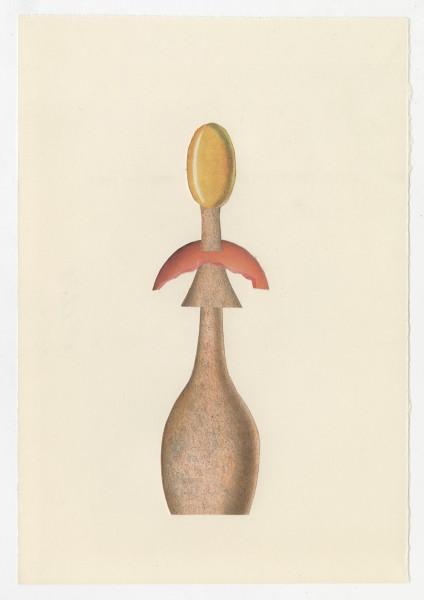 Erik Frydenborg, Full Color Bachelor No. 244, 2014. Collage on endpaper. 7.75 x 5.5 inches.