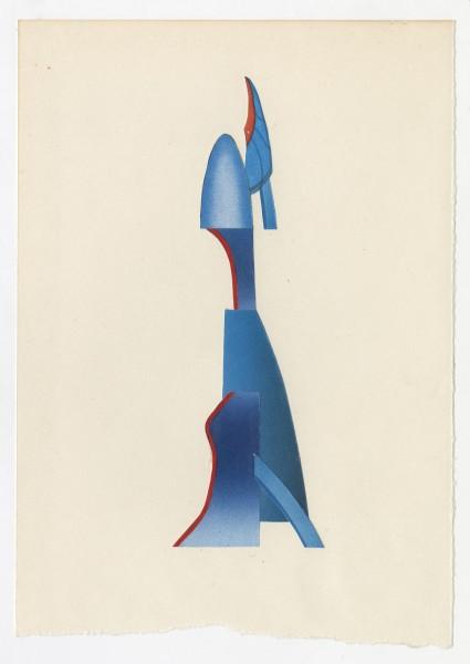 Erik Frydenborg, Full Color Bachelor No. 245, 2014. Collage on endpaper. 7.75 x 5.5 inches.