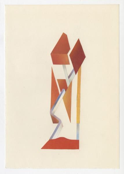 Erik Frydenborg, Full Color Bachelor No. 246, 2014. Collage on endpaper. 7.75 x 5.5 inches.