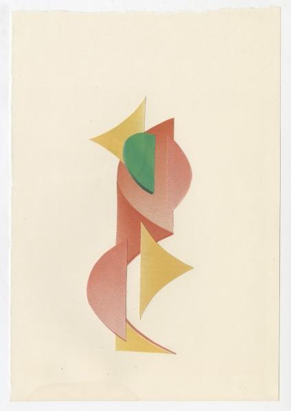 Erik Frydenborg, Full Color Bachelor No. 248, 2014. Collage on endpaper. 7.75 x 5.5 inches.