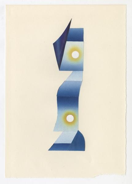 Erik Frydenborg, Full Color Bachelor No. 249, 2014. Collage on endpaper. 7.75 x 5.5 inches.