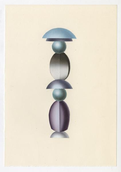 Erik Frydenborg, Full Color Bachelor No. 250, 2014. Collage on endpaper. 7.75 x 5.5 inches.