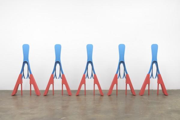 Erik Frydenborg, Them, 2014. Polychromed wood. Dimensions variable.