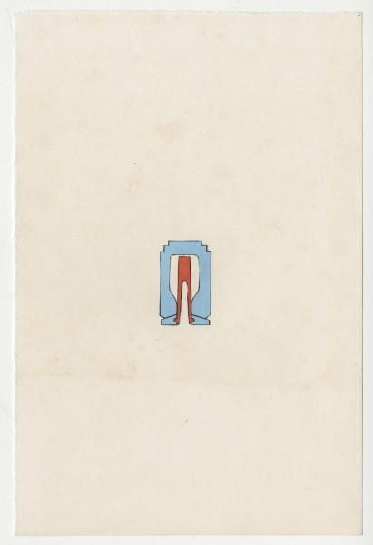 Erik Frydenborg, Bachelor Fragment, 2014. Collage on endpaper. 7.5 x 5 inches.